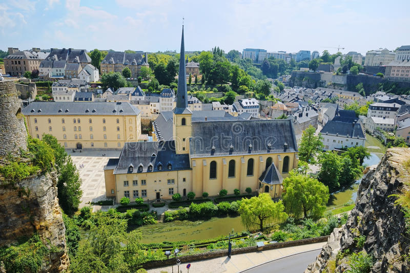abbey de Neumunster在卢森堡 免版税库存图片