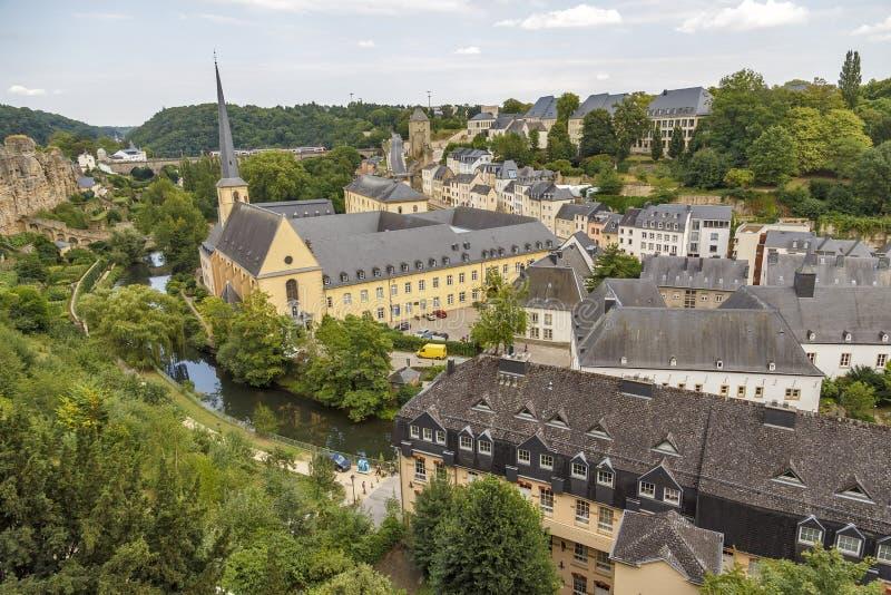 abbey de Neumunster在卢森堡市 图库摄影