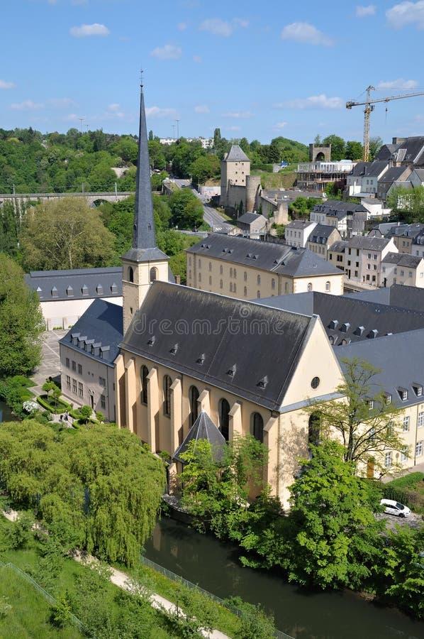 abbey de Neumunster在卢森堡 免版税图库摄影