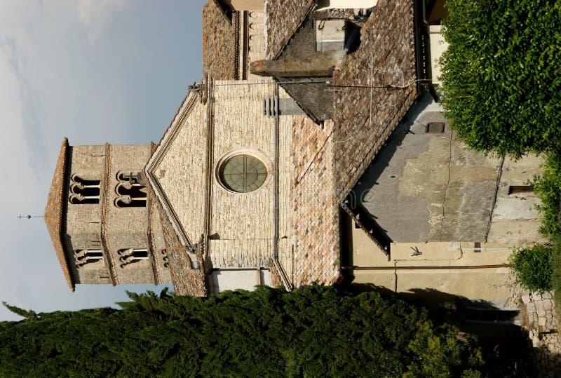 Abbey Farfa-dorp royalty-vrije stock afbeeldingen