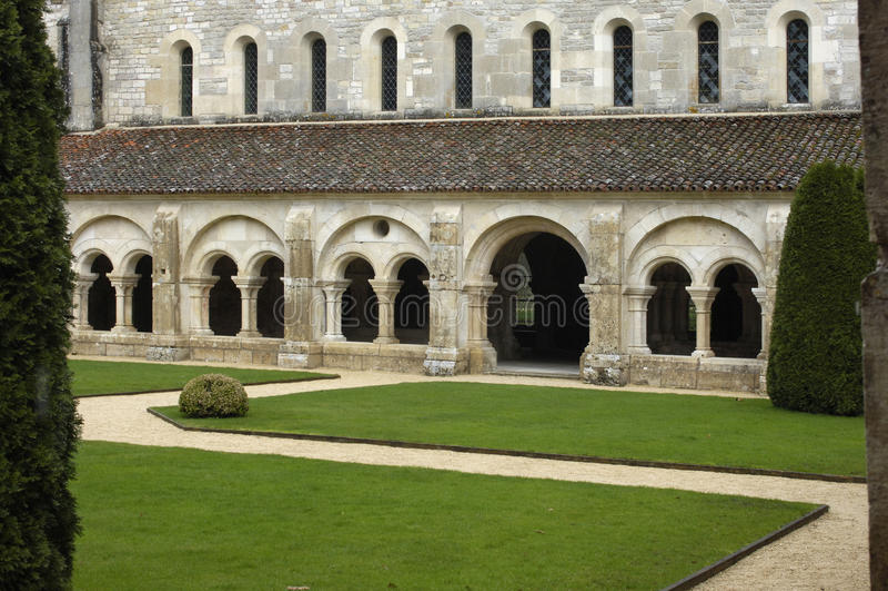 Abbey of Fontenay royalty free stock image