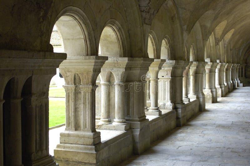 Abbey of Fontenay stock image