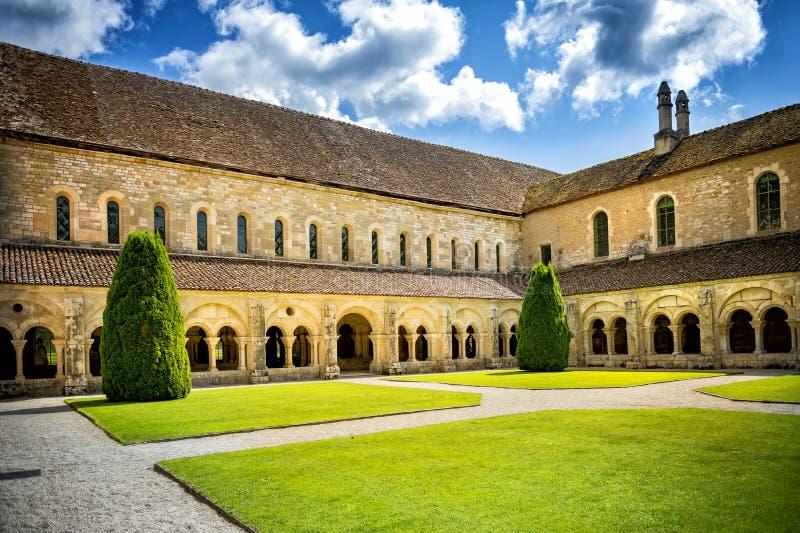 Abbey of Fontenay, Burgundy, France stock image