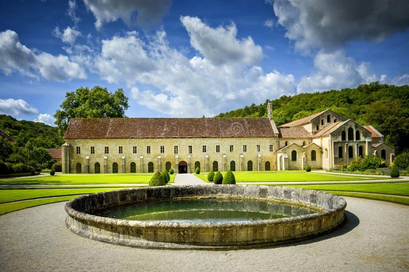 Abbey of Fontenay, Burgundy, France royalty free stock photos
