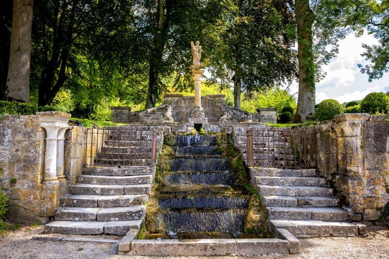 Abbey of Fontenay, Burgundy, France royalty free stock photography