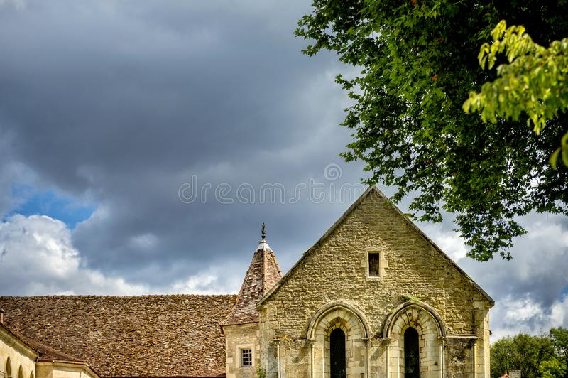 Abbey of Fontenay, Burgundy, France royalty free stock images