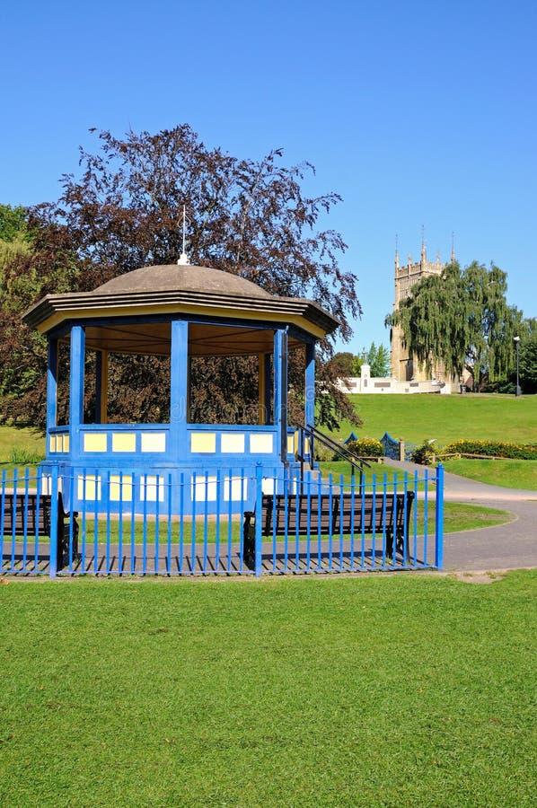 Abbey Gardens-muziektent, Evesham royalty-vrije stock fotografie