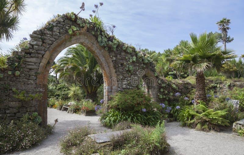 Abbey Gardens, Tresco, islas de Scilly, Inglaterra fotos de archivo libres de regalías