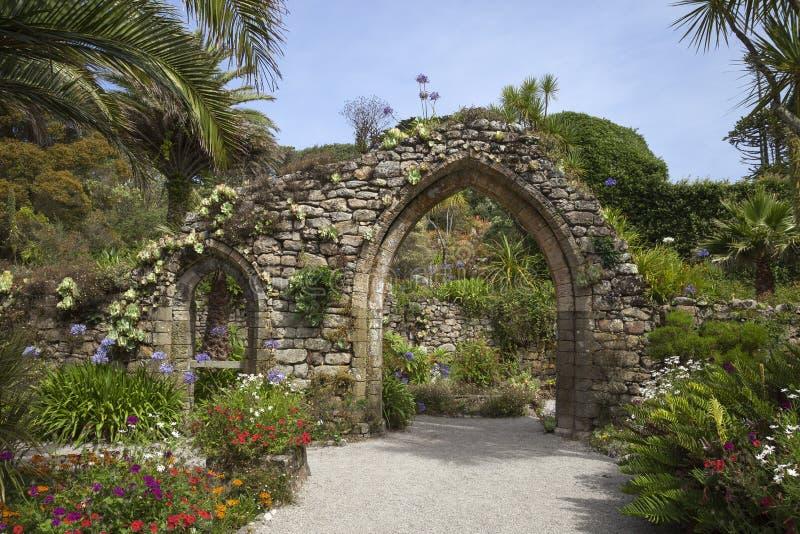 Abbey Gardens, Tresco, isole di Scilly, Inghilterra immagini stock libere da diritti
