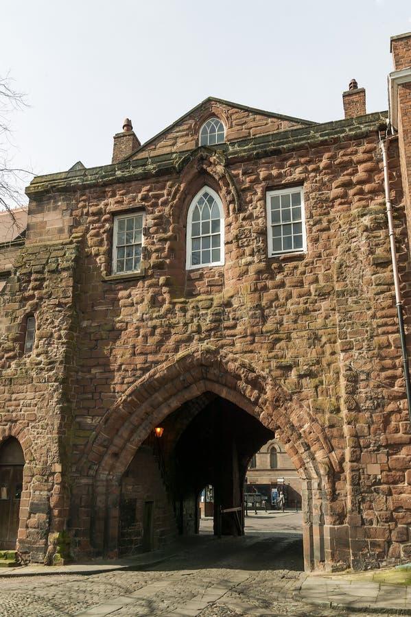Abbey Gateway, Chester England Regno Unito immagini stock
