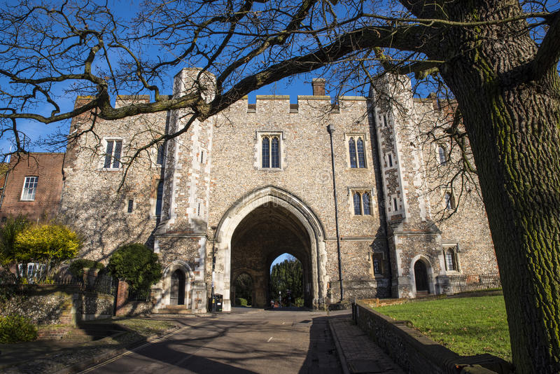 The Abbey Gateway in St. Albans royalty free stock photo