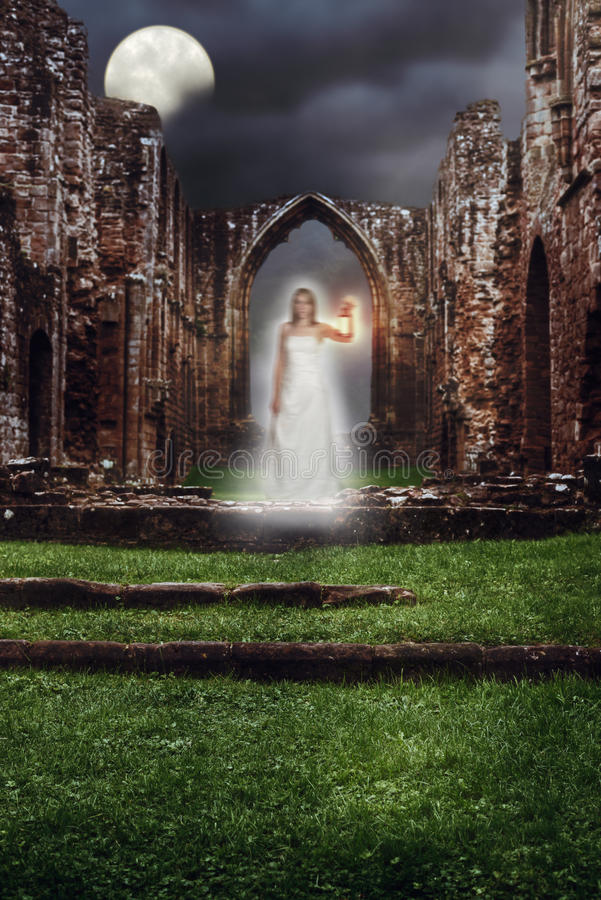 Abbey Ghost stock photos