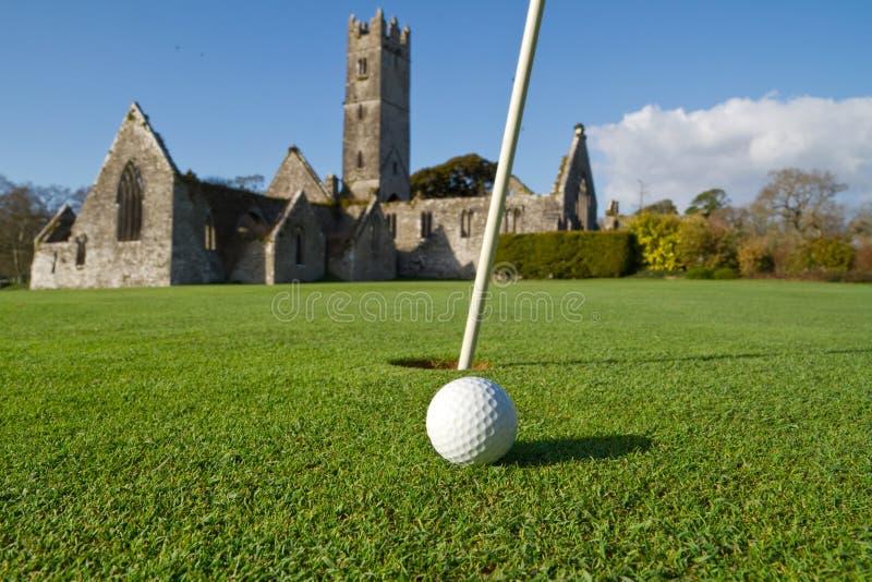 Abbey golf course royalty free stock photos