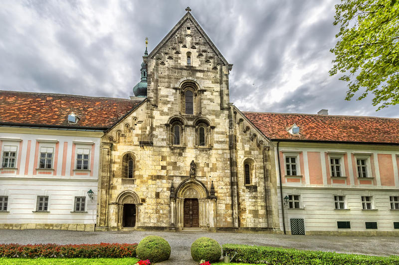 Abbey of the Holy Cross (Stift Heiligenkreuz) in Vienna woods. royalty free stock photos