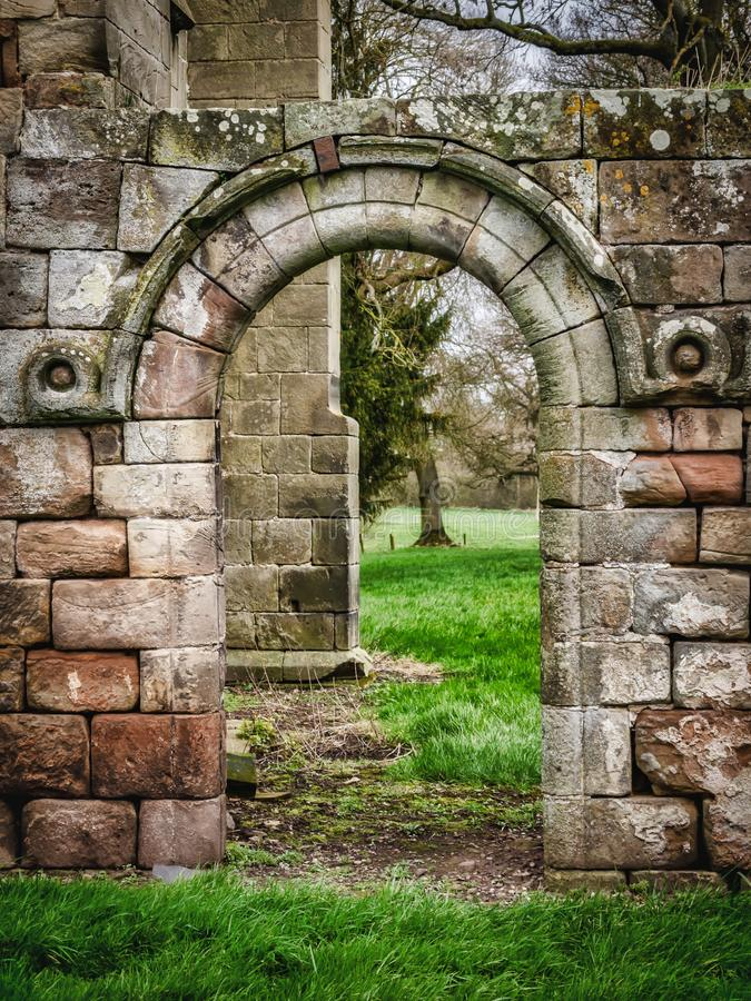 Abbey House et abbaye de Ranton, Ranton, le Staffordshire photographie stock libre de droits