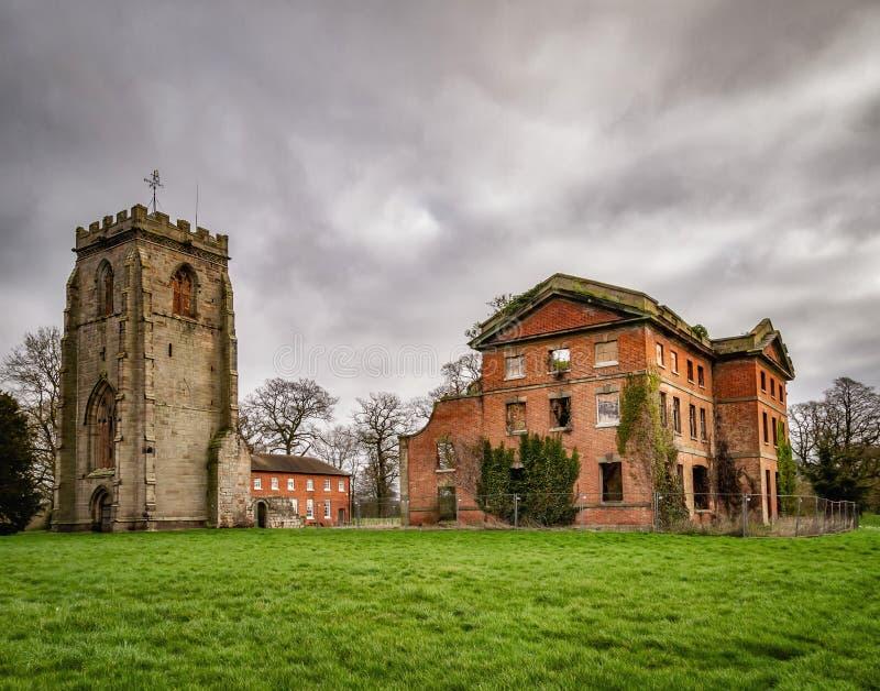 Abbey House et abbaye de Ranton, Ranton, le Staffordshire images libres de droits