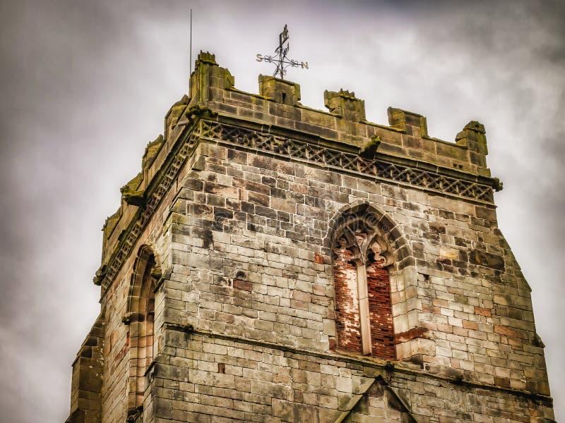 Abbey House et abbaye de Ranton, Ranton, le Staffordshire images stock