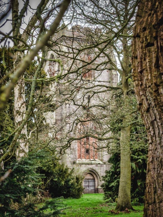 Abbey House et abbaye de Ranton, Ranton, le Staffordshire photos libres de droits
