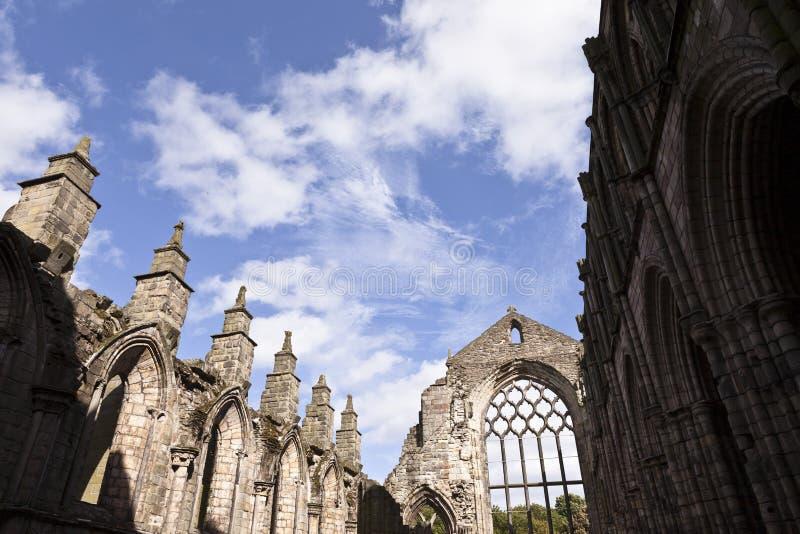 Abbey i den Holyrood slotten arkivbilder