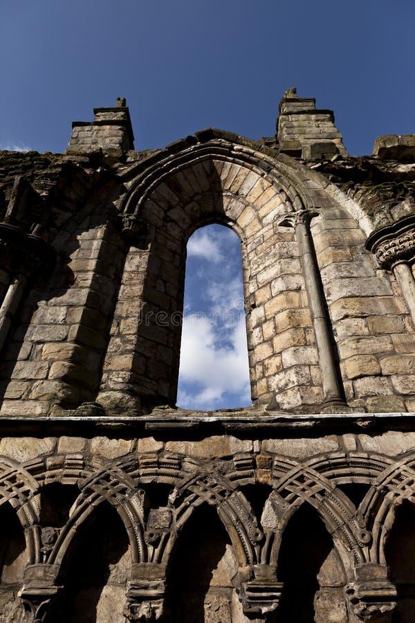 Abbey i den Holyrood slotten fotografering för bildbyråer