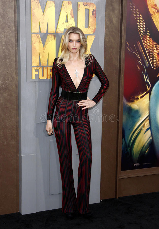 Abbey Lee Kershaw. At the Los Angeles premiere of 'Mad Max: Fury Road' held at the TCL Chinese Theatre IMAX in Hollywood, USA on May 7, 2015 royalty free stock images