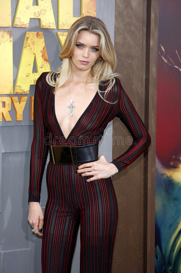 Abbey Lee. At the Los Angeles premiere of 'Mad Max: Fury Road' held at the TCL Chinese Theatre IMAX in Hollywood, USA on May 7, 2015 royalty free stock photo