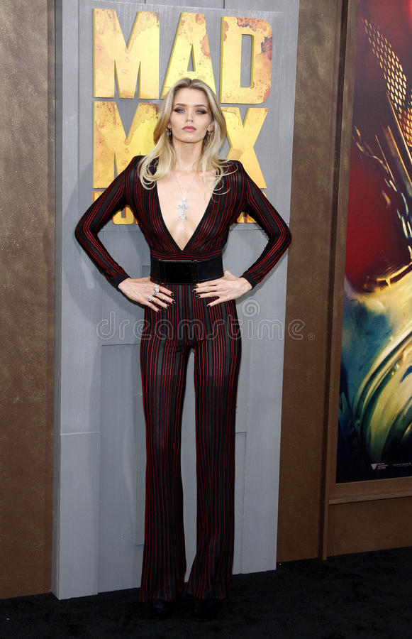 Abbey Lee. At the Los Angeles premiere of 'Mad Max: Fury Road' held at the TCL Chinese Theatre IMAX in Hollywood, USA on May 7, 2015 royalty free stock image