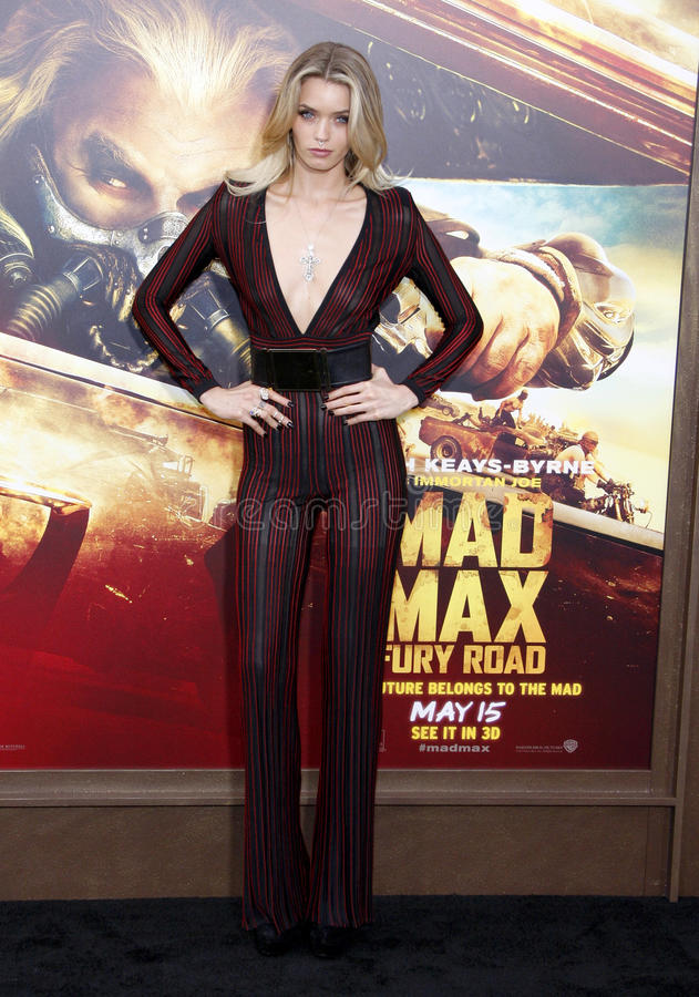 Abbey Lee. At the Los Angeles premiere of 'Mad Max: Fury Road' held at the TCL Chinese Theatre IMAX in Hollywood, USA on May 7, 2015 royalty free stock images