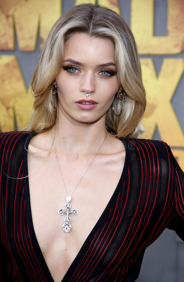 Abbey Lee. At the Los Angeles premiere of 'Mad Max: Fury Road' held at the TCL Chinese Theatre IMAX in Hollywood, USA on May 7, 2015 stock image