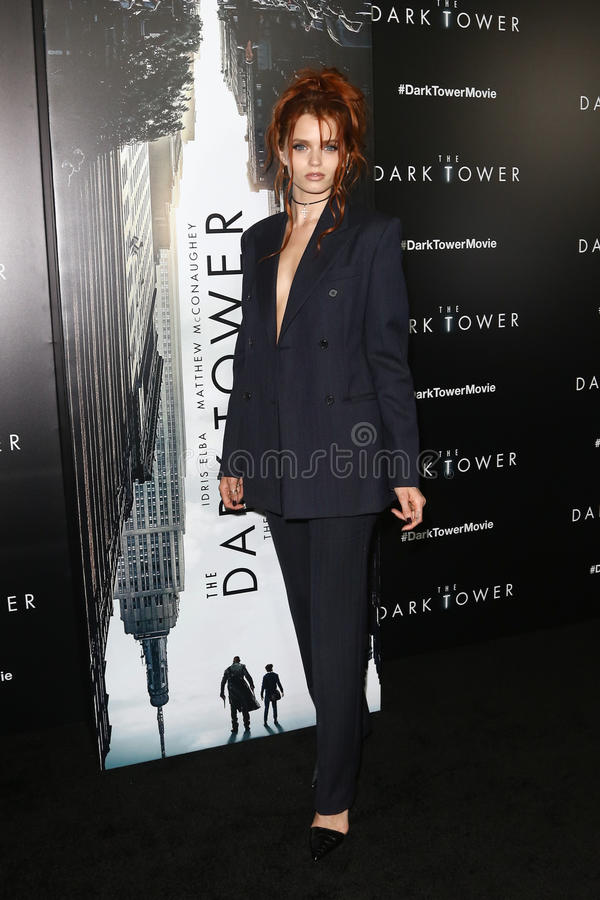 Abbey Lee. NEW YORK-JUL 31: Abbey Lee attends `The Dark Tower` special screening at the Museum of Modern Art on July 31, 2017 in New York City royalty free stock images