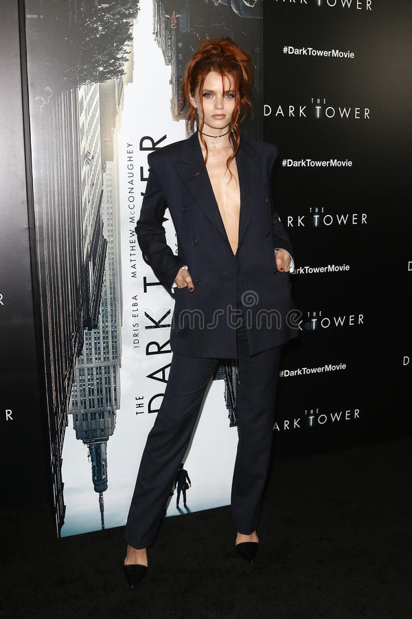 Abbey Lee. NEW YORK-JUL 31: Abbey Lee attends `The Dark Tower` special screening at the Museum of Modern Art on July 31, 2017 in New York City stock photos