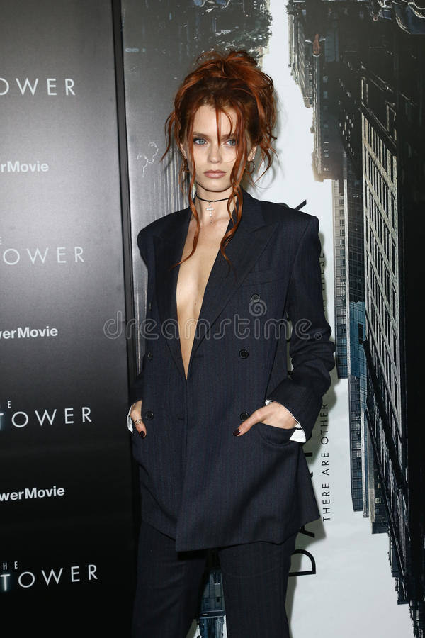 Abbey Lee. NEW YORK-JUL 31: Abbey Lee attends `The Dark Tower` special screening at the Museum of Modern Art on July 31, 2017 in New York City royalty free stock photos