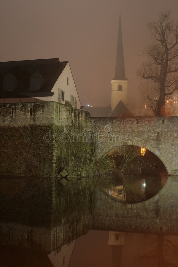 abbey luxembourg arkivfoto