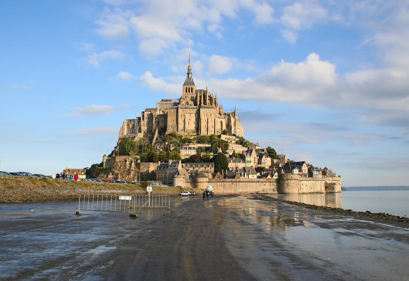 Download Abbey Mont Saint-Michel stock photo. Image of france - 14857572