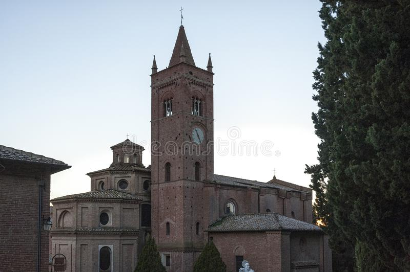 The Abbey of Monte Oliveto Maggiore is a large Benedictine monastery in the Italian region of Tuscany, near Siena. royalty free stock photos