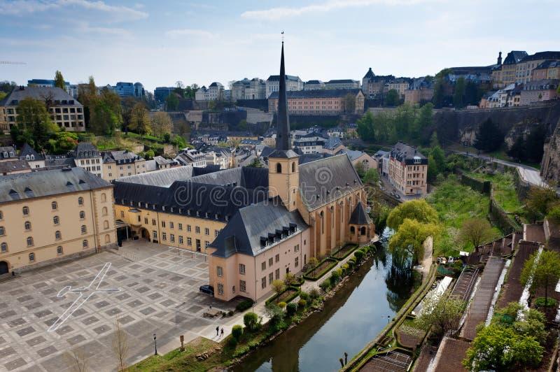 Abbey Neumunster Luxembourg fotografia stock libera da diritti
