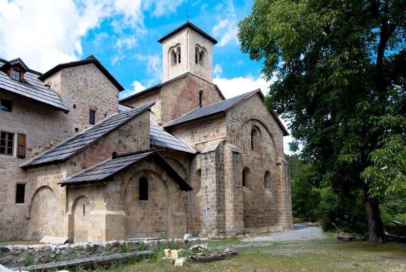 abbey Notre Dame de Boscodon。 Crots,法国。 库存照片