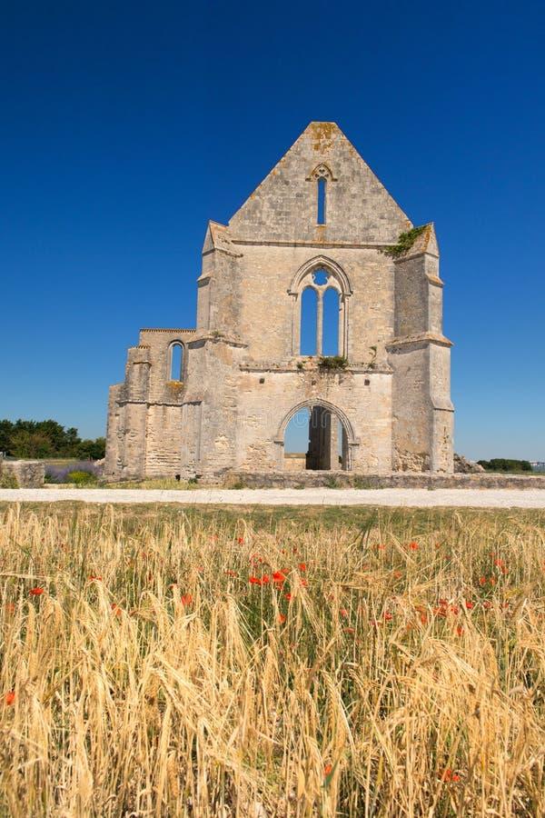 Abbey Notre dame de re royaltyfri bild