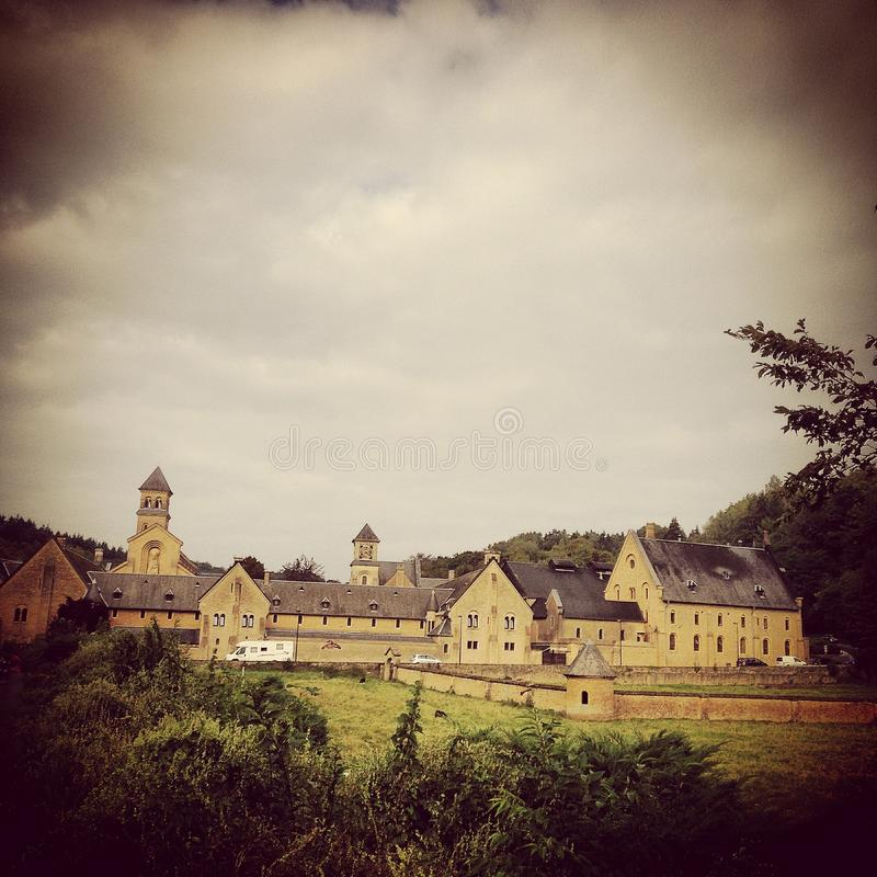 Abbey of Orval stock photography