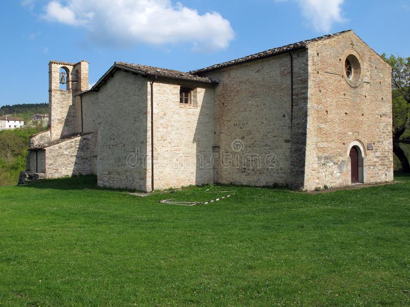 Abbey Of Piobbico In Italy Royalty Free Stock Image