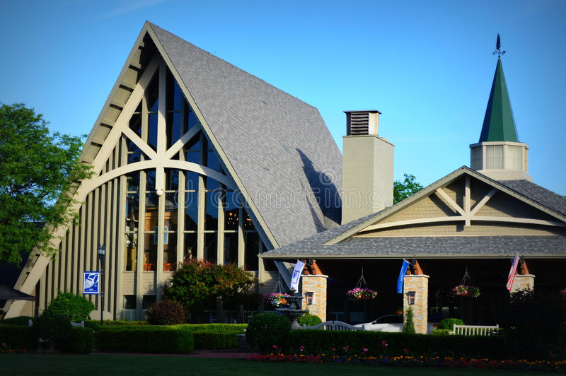 The Abbey Resort - Fontana, WI. The Abbey Resort is located in the small village of Fontana-on-Geneva Lake, Wisconsin overlooking Geneva Lake. The Abbey was stock photo