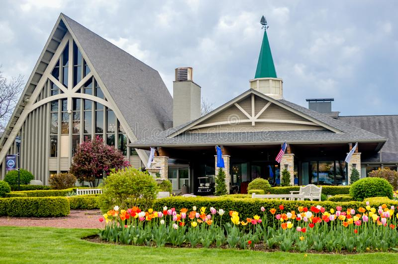 The Abbey Resort - Lake Geneva, WI Spring Tulips stock photos