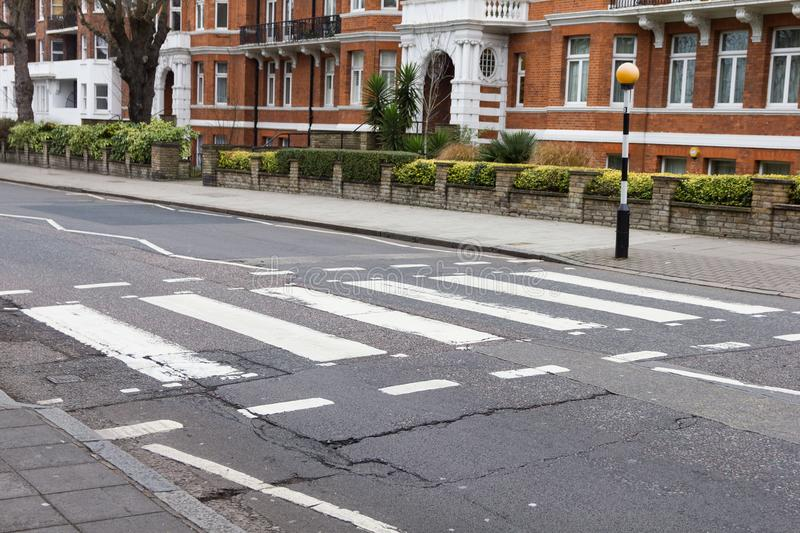 Abbey road crossroad, London. UK royalty free stock image