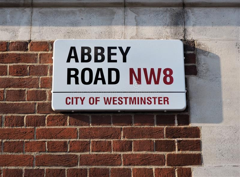 Abbey Road North London Home of the Famous Abbey Road Studios. Abbey Road North West London home of the famous Abbey Road Studios where the legendary Band The royalty free stock photography