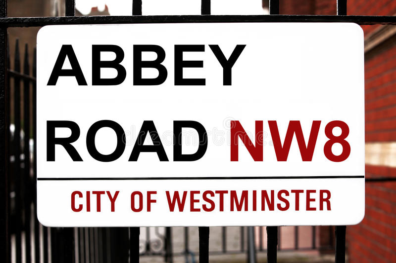Download Abbey Road sign stock photo. Image of abbey, album, sign - 21093536