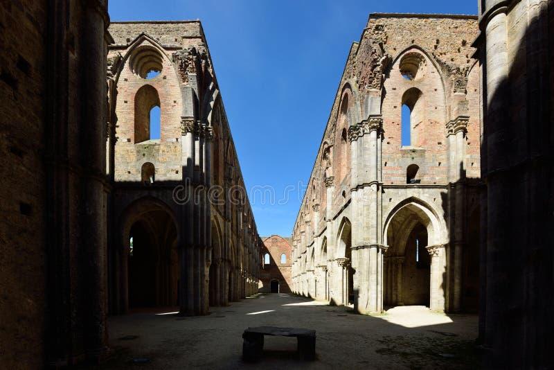 Abbey of San Galgano, Tuscany, Italy stock images