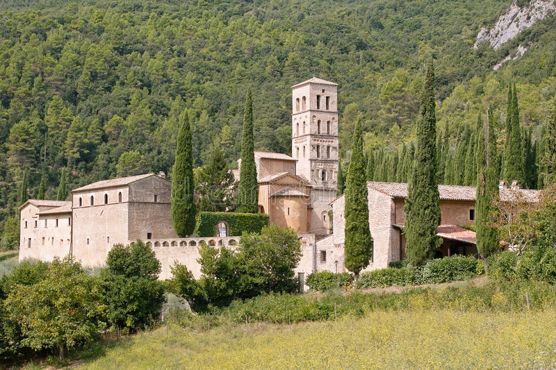 Abbey Of San Pietro In Valley Stock Photo