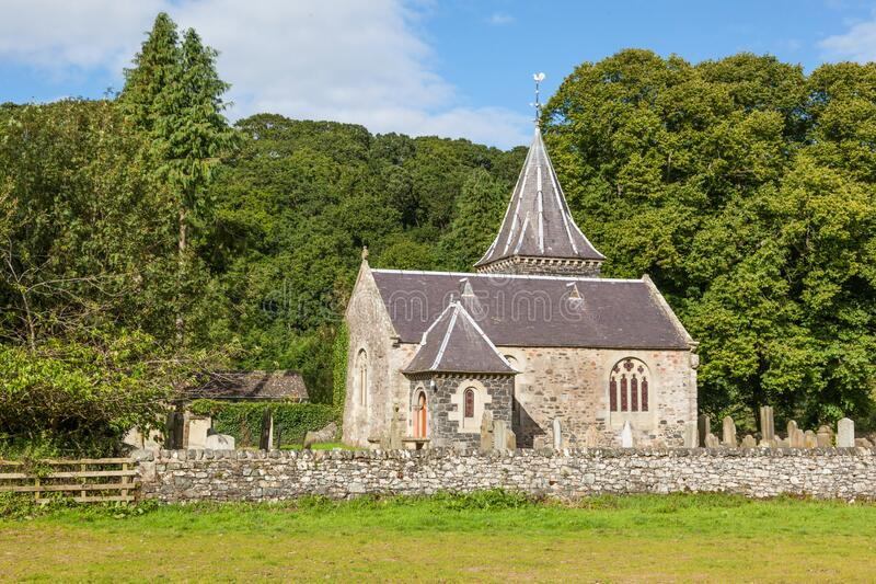 Abbey St Bathans Kirk foto de stock royalty free