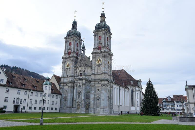 Abbey of St. Gallen on Switzerland. St. Gallen, Switzerland - 23 November 2016: Abbey of St. Gallen on Switzerland, Unesco world heritage royalty free stock photo