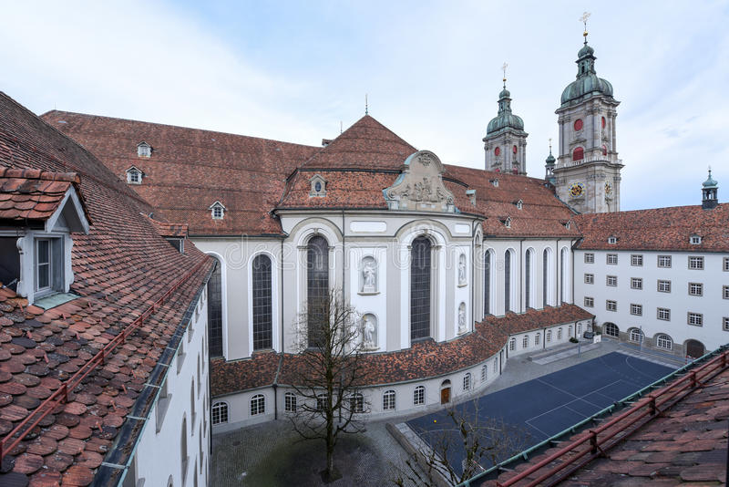 Abbey of St. Gallen on Switzerland. Unesco world heritage royalty free stock photos